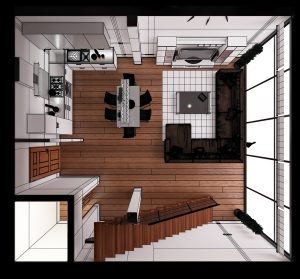 Micro Apartment Layout Example